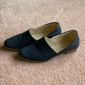 Clark's black flats shoes loafers size 8.5 cushion